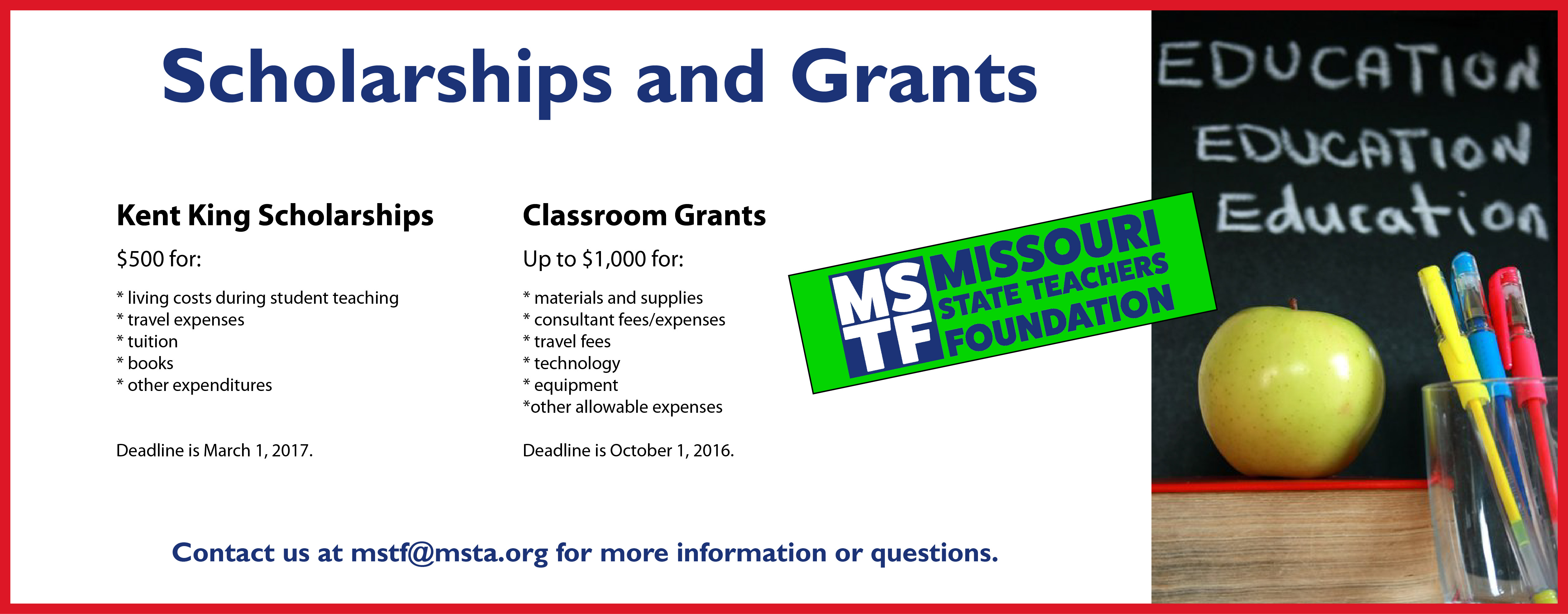 Grants and Scholarships Banner